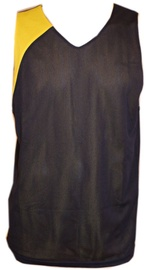 Bars Mens Basketball Shirt Black/Yellow 173 L