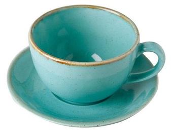 Krūzīte ar apakštasi Porland Seasons Cup With Saucer 32cl Turquoise