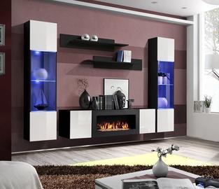 Dzīvojamās istabas mēbeļu komplekts ASM Fly M3 White/Black