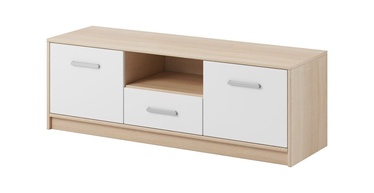 ТВ стол WIPMEB Tulia, белый/дубовый, 1232x383x420 мм