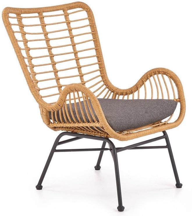 Atzveltnes krēsls Halmar Ikaro Natural/Grey, 69x58x93 cm