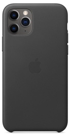 Apple Leather Back Case For Apple iPhone 11 Pro Black