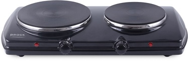 Brock Electric Double Hotplate Black 1500W
