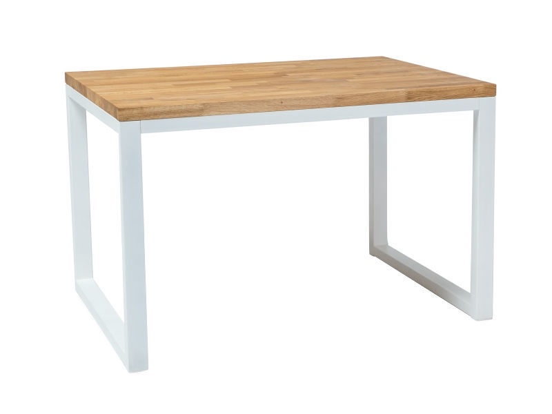 Pusdienu galds Signal Meble Loras II Oak/White, 1200x800x770 mm