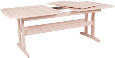 Dārza galds Folkland Timber Bavaria White, 170 - 220 x 90 x 73 cm