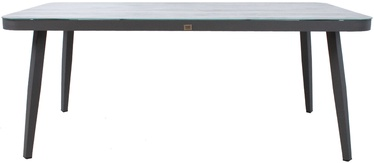 Садовый стол Home4you Marie 13683, серый, 180 x 90 x 74 см
