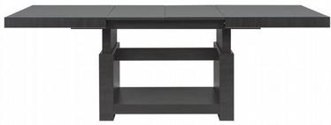 Kafijas galdiņš Black Red White Heze Max Black, 1400x800x625 mm