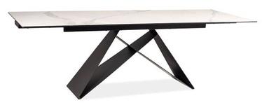 Обеденный стол Signal Meble Westin III White/Black Matt, 2400x900x760 мм
