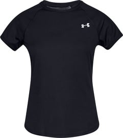 Under Armour Womens Speed Stride Short Sleeve Shirt 1326462-001 Black XS