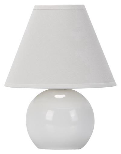 Galda lampa D1292 40W E14, balta
