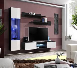 Dzīvojamās istabas mēbeļu komplekts ASM Fly R3 White/Black