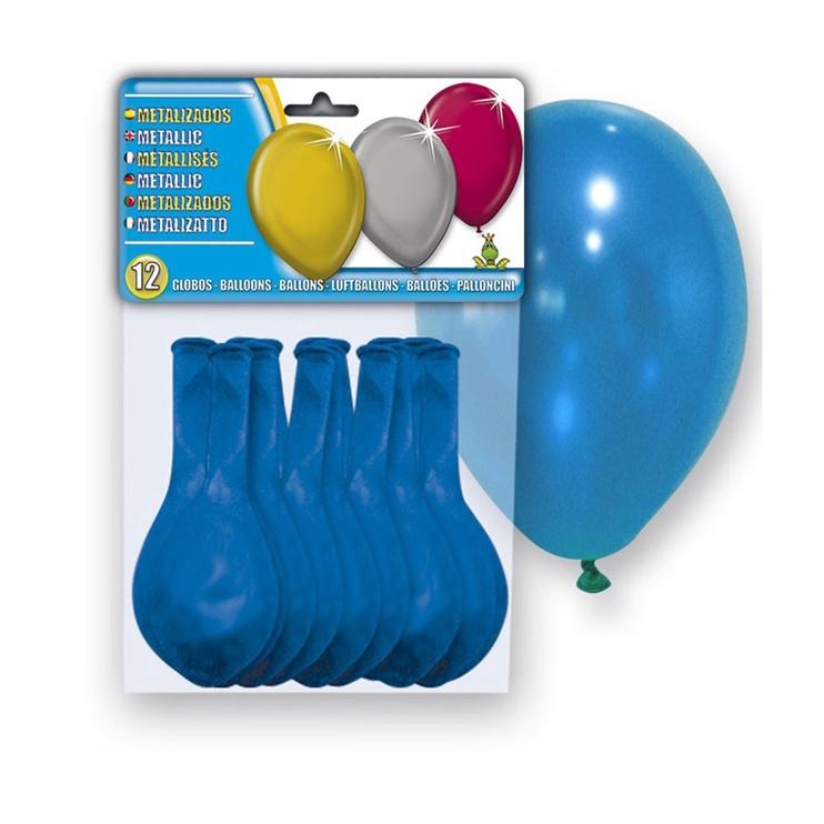 Balons Metallic, zila, 12 gab.