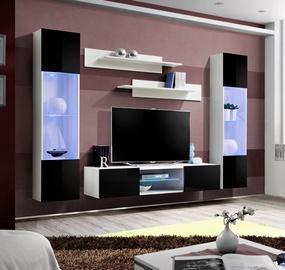 Dzīvojamās istabas mēbeļu komplekts ASM Fly O3 Black/White