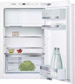 Iebūvējams ledusskapis Bosch KIL22AFE0, saldētava augšā