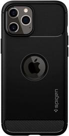 Spigen Rugged Armor Back Case For Apple iPhone 12/12 Pro Matte Black