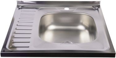 Diana Kitchen Sink Right Chrome 600 x 600 mm