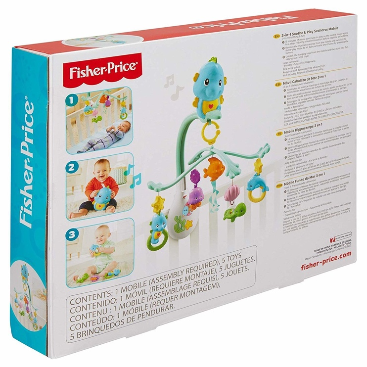 Fisher Price Soothe And Play Seahorse Mobile 3in1 DFP12