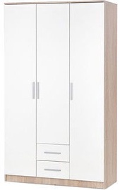 Skapis Halmar Lima S-3 White, 120x52x205 cm, with mirror