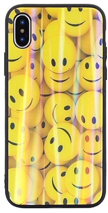 Beline Ultra Slim Back Case With Picture Under Glass For Apple iPhone 7/8 Yellow Smiles