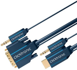Clicktronic HDMI To DVI/Audio Adapter Cable 3m