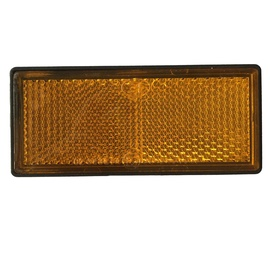 Autoserio Reflector Rectangle Yellow AFK0180 2pcs