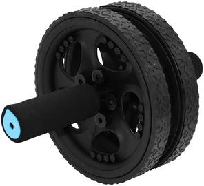 SportVida Fitness Flat Double Roller 18cm Black