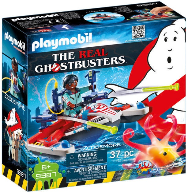 Playmobil Ghostbusters Zeddemore With Aqua Scooter 9387