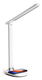 Gaismeklis Platinet Desk Lamp with Wireless Charger 18W White