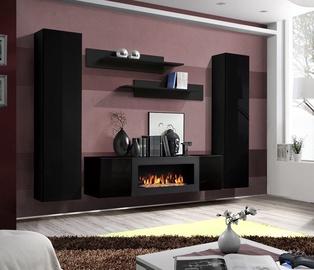 Dzīvojamās istabas mēbeļu komplekts ASM Fly M1, melna