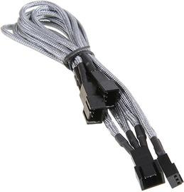 Kabelis BitFenix 3-Pin to 3 x 3-Pin Splitter for Fans 60cm Silver/Black