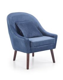Atzveltnes krēsls Halmar Opale Dark Blue, 78x73x86 cm