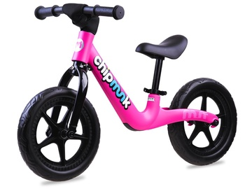 "Līdzsvara velosipēds Royalbaby Chipmunk, melna/rozā, 12"""