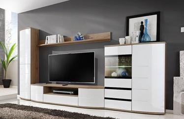 ASM Ontario II Living Room Wall Unit Set White/San Remo Oak