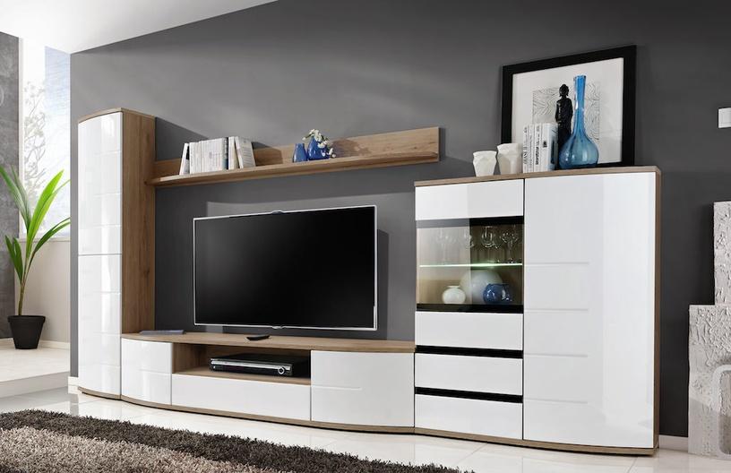 Dzīvojamās istabas mēbeļu komplekts ASM Ontario II White/San Remo Oak