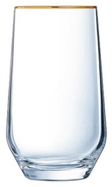 Eclat Ultime Tumbler High Ball Gold Rim Juice Glass 38cl 4pcs
