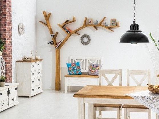 Signal Meble Poprad Tree Shaped Shelf Right Side Oak