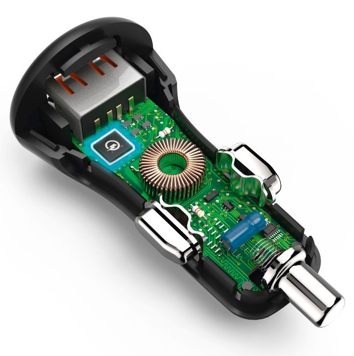 Hama USB Car Charger With Micro USB Cable Black
