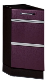 DaVita Palermo 08.65.1 Kitchen Bottom Cabinet Wenge Oak/Eggplant