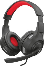 Игровые наушники Trust Ravu GXT 307, черный/красный