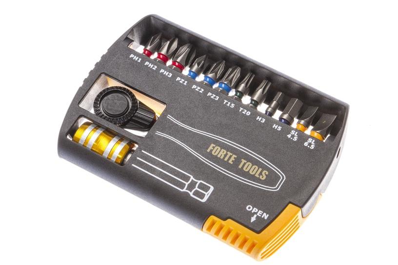 Skrūvgrieža uzgaļu un atslēgu komplekts Forte Tools BT14-00, 14 gab.