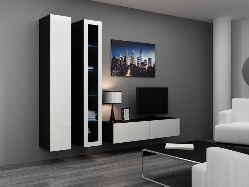 Cama Meble Vigo 180 Glass Case Black/White Gloss