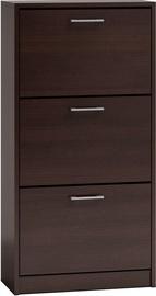 Шкаф для обуви Top E Shop Paula, коричневый, 600x280x1160 мм