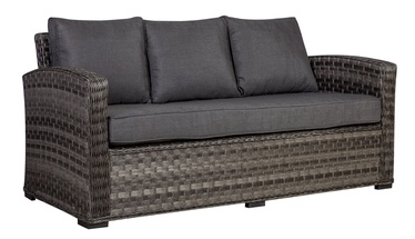 Dīvāns Home4you Geneva 3 Seat Dark Grey