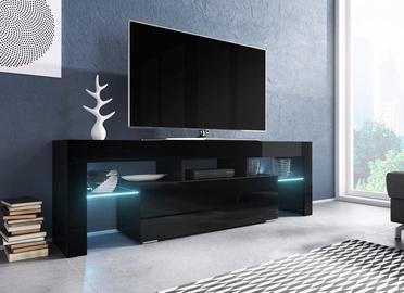 TV galds Cama Meble RTV Toro 138 Black, 1380x400x410 mm