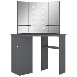 Столик-косметичка VLX Corner Dressing Table 326532, серый, 54 см x 111 см x 141.5 см, с зеркалом