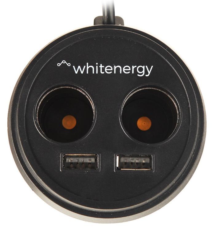 Whitenergy Car Charger USB x2/CS x2 Black