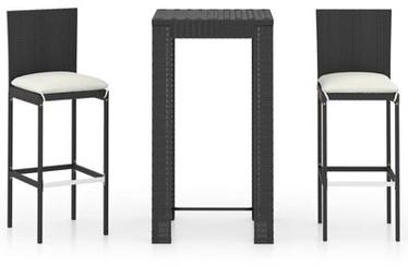 Āra mēbeļu komplekts VLX Garden Bar Furniture Set 3064792, balts/melns, 2 sēdvietas