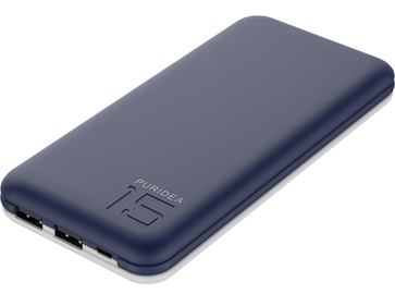 Ārējs akumulators Puridea S3 Blue, 15000 mAh