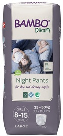 Подгузники Bambo Dreamy Night Pants Girl 8-15, 10pcs