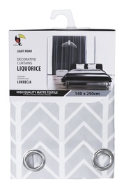 Tuckano Pattern Liquorice Curtain 140x250cm Light Grey w/ Ornament
